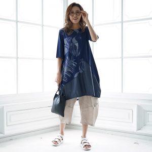 ファッションヴィレッヂ Fashionvillage コイビトミサキ koibitomisaki ミセス ゆったりコーデ ミセスファッション コクーンシルエット ステイホームファッション チュニック